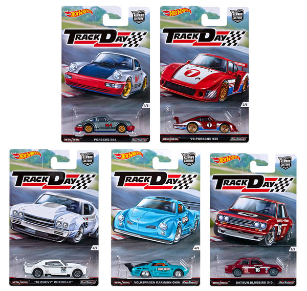 DJF77D-SET - Mattel Hot Car Culture Track Day