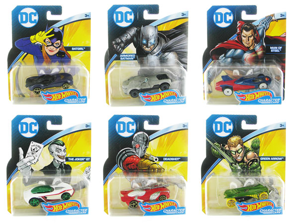 DKJ66G-CASE - Mattel Hot DC Comics Character Car