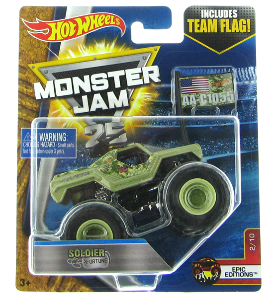 DWL95 - Mattel Soldier Fortune Hot Monster Jam