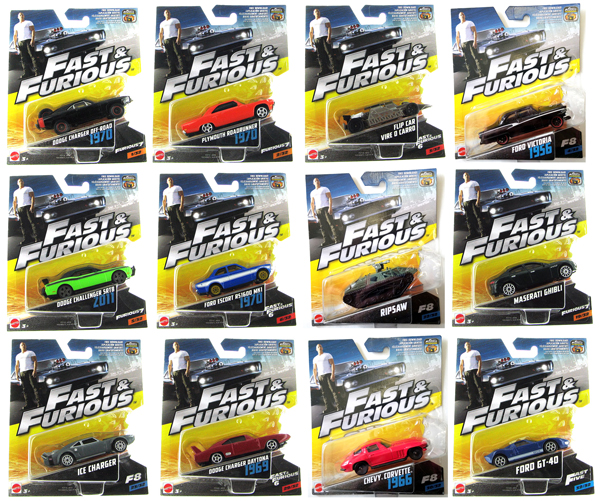FCF35-956C-CASE - Mattel Fast and Furious 1 55 Diecast