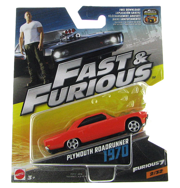 FCF37 - Mattel 1970 Plymouth Roadrunner Furious 7 2015