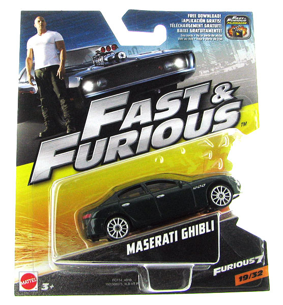 Mattel Maserati Ghibli Furious 7 2015 Fast And