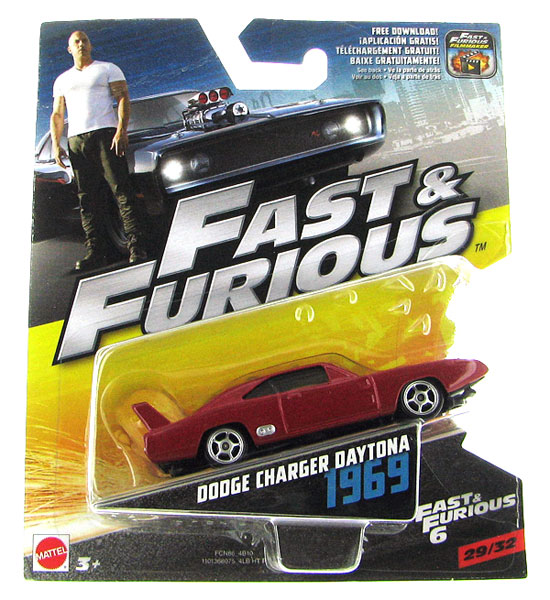 FCN86 - Mattel 1969 Dodge Charger Daytona Fast and Furious