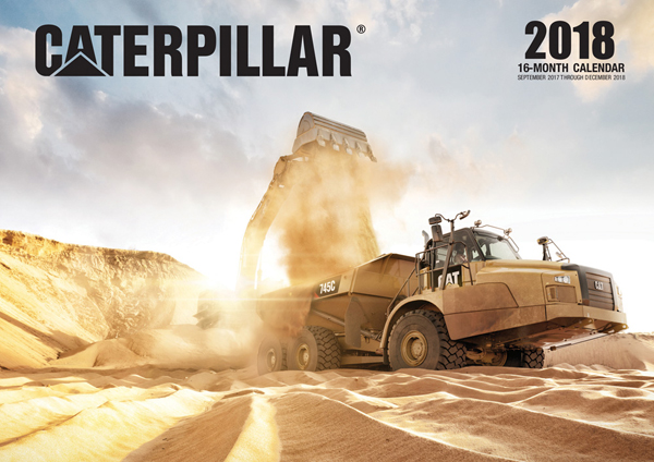 9780760352847 - MBI 2018 Caterpillar Calendar 16 Month Wall
