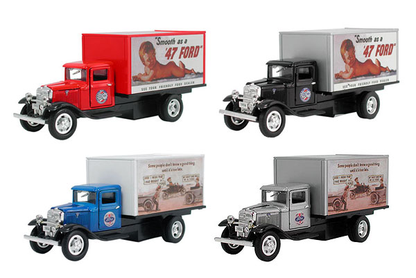 18047-SET - Metallic Team 1934 Ford Box Truck 4 Piece