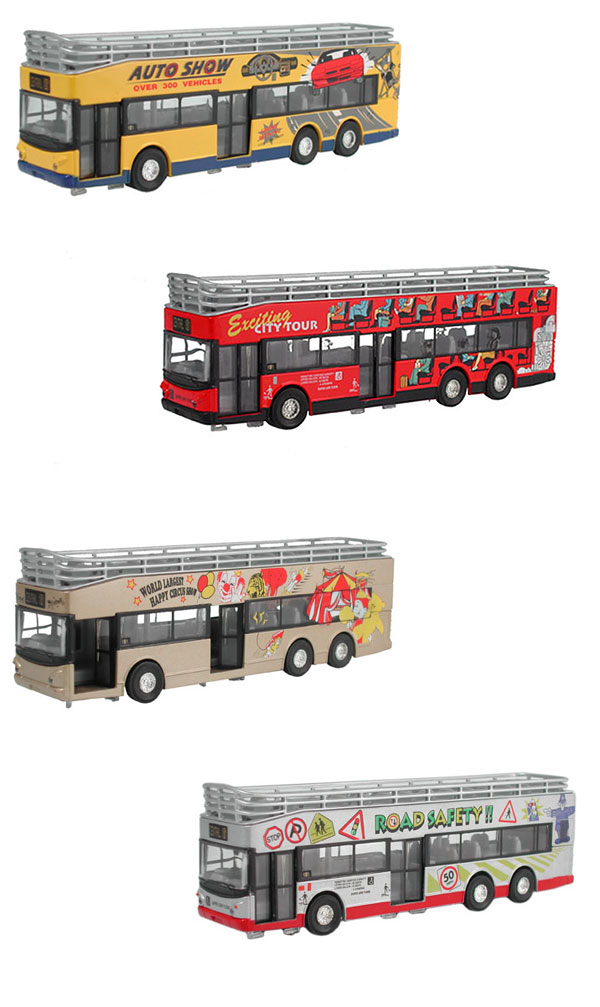 18224-SET - Metallic Team City Tour Bus 4 Piece Set