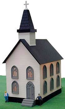 2553 - Model Power Church N Scale Built Up Building