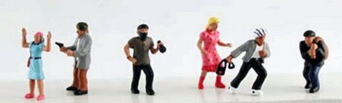 6149 - Model Power Crime Scenes Hand Painted Figures