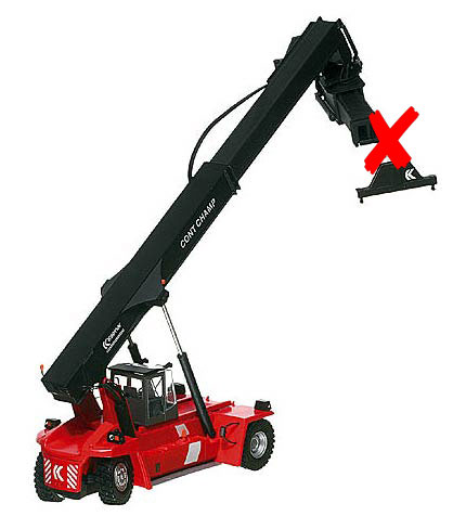 100058-X - Motorart Kalmar Contchamp Container Loader High Tech Line