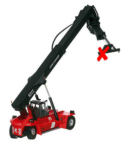 100058-X4 - Motorart Kalmar Contchamp Container Loader ONE PIN