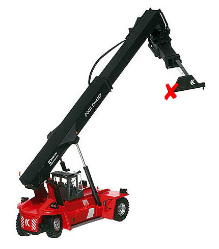 100058-X6 - Motorart Kalmar Contchamp Container Loader ONE PIN