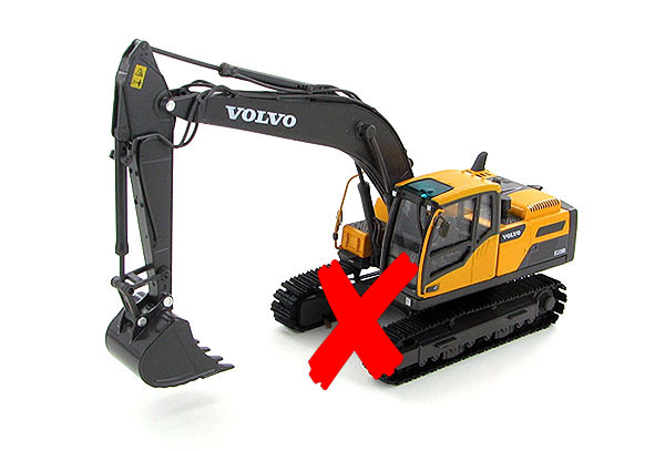 300027-X - Motorart Volvo EC220D Excavator TRACKS ARE DAMAGED