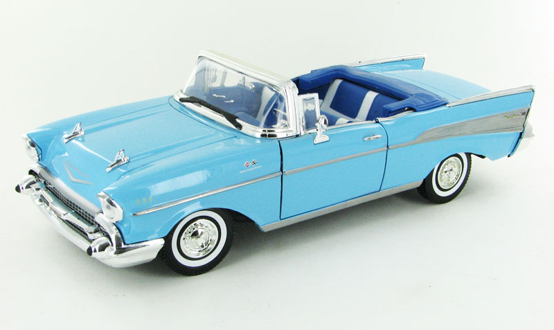 73175AC-BL - Motormax 1957 Chevrolet Bel Air Convertible