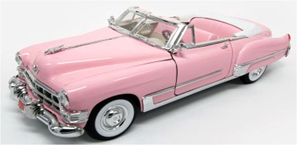 48888EP-X - Motor City Elvis Pink Cadillac Convertible MODEL IS MINT