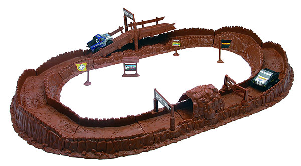00695 - New-ray Pro Competition Road Truck Racing Set