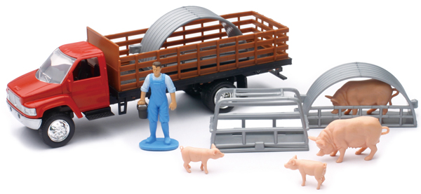 04086-A - New-ray Country Life Pig Transport Playset Playset