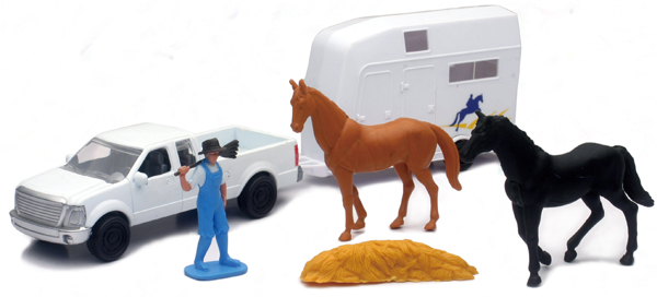 04086-B - New-Ray Toys Country Life Horse Transport Playset Playset