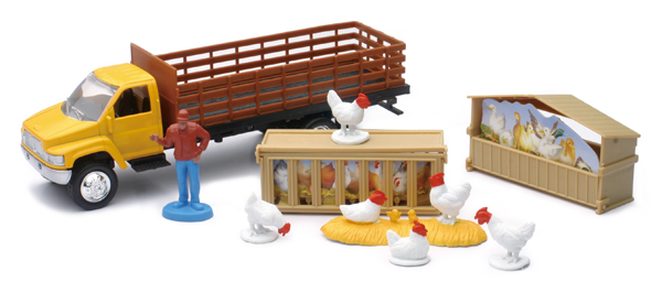 04086-C - New-ray Country Life Chicken Transport Playset Playset