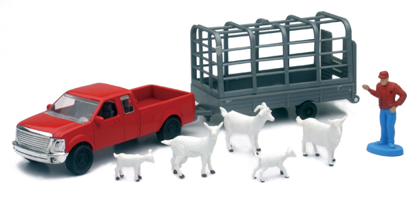 04086-E - New-ray Country Life Goat Transport Playset Playset