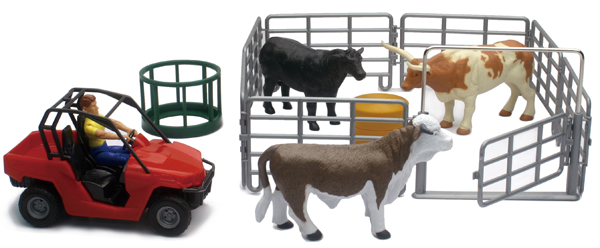 04096-A - New-ray Country Life Cow Corral Playset Playset