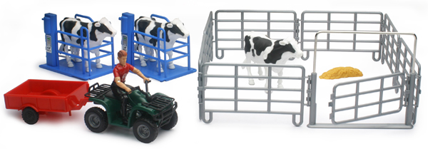 04096-D - New-ray Country Life Milking Cow Playset Playset