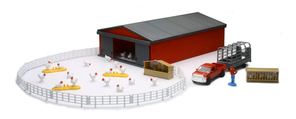 04143B - New-ray Country Life Chicken Farming Play Set