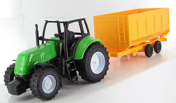 05685-C - New-ray Green Tractor and Dump Trailer Tractor