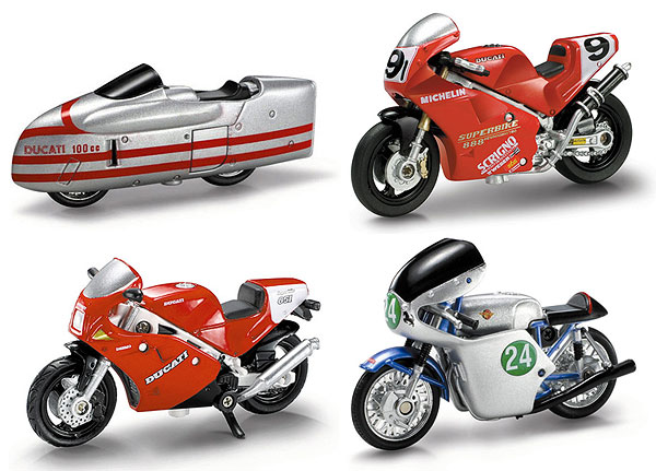 06037-SET-B - New-Ray Toys Ducati Motorcycle 4 Piece SET SET