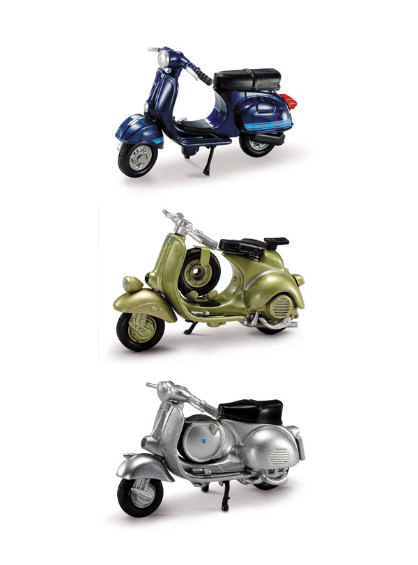06047-SET-C - New-ray Vespa 3 Piece Scale Model SET