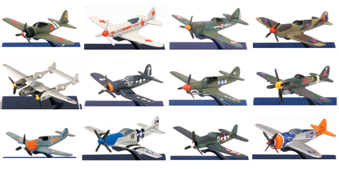 06687-SET - New-ray WWII Fighter Plane 12 piece SET