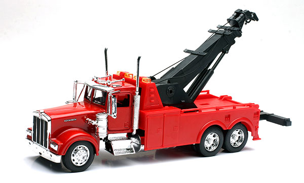 10873 - New-ray Kenworth W900 Tow Truck Arm raises