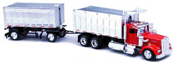 15223 - New-ray Kenworth W900 Double Dump Truck