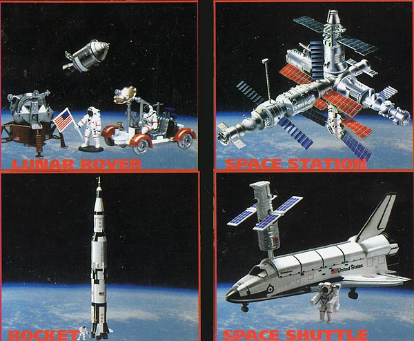 20407-SET - New-ray Space Adventure 4 Piece Model Kit