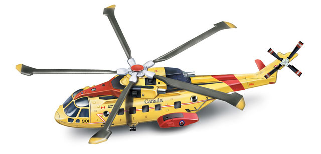 25513 - New-Ray Toys Agusta EH 101 Canadian Search and Rescue