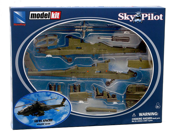 25525 - New-ray Apache AH 64 Diecast Model Kit
