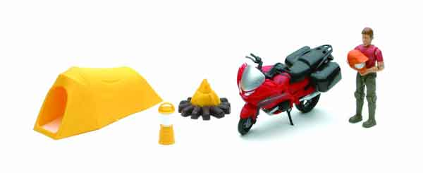37155-D - New-ray Xtreme Adventure Playset Man and Motorcycle