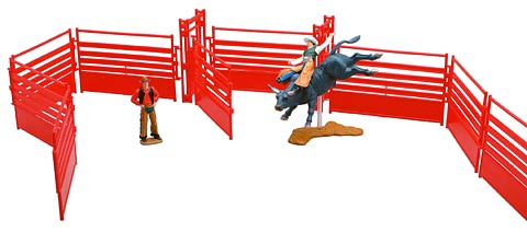 38005-6 - New-Ray Toys Western Rodeo Champion Playset Set