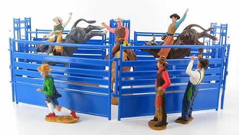 38085-1 - New-ray Western Rodeo playset