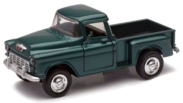 54263A - New-ray 1955 Chevrolet Stepside Pickup Truck Diecast
