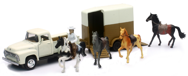 54996-B - New-ray Horse and Rider Playset Playset