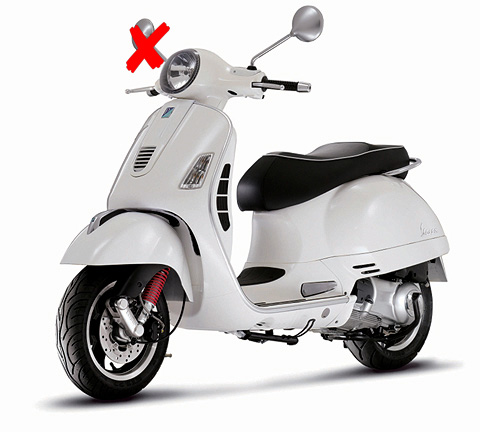 57243W-X - New-ray Vespa GTS 300 Super Scooter