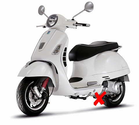 57243W-X2 - New-ray Vespa GTS 300 Super Scooter