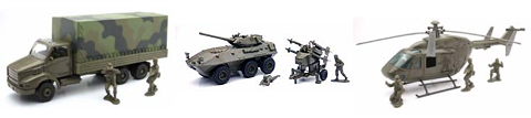 61705-SET - New-ray Army 3 Piece Set