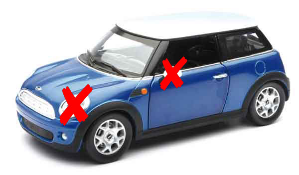 71023-BL-X - New-ray Mini Cooper