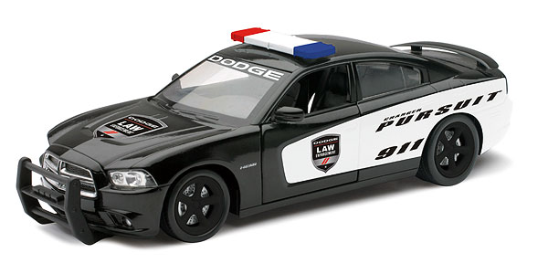71903 - New-ray Police Dodge Charger Pursuit Car Made