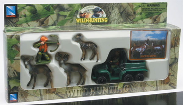 76003-2 - New-Ray Toys Antelope Hunters Set Wild Hunting playset
