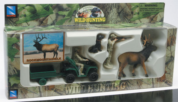 76003-4 - New-ray Elk Hunters Set Wild Hunting playset