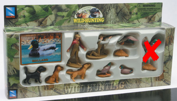 76003-5-X - New-ray Mallard Hunters Set Wild Hunting playset