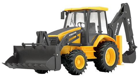 87913 - New-ray Volvo BL71 Backhoe Loader Remote Control
