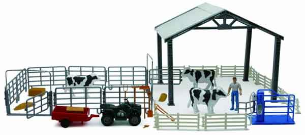 SS-05045 - New-Ray Toys Dairy Cow Deluxe Playset
